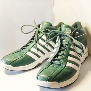 Vintage K-Swiss Green/White Men's Shoes